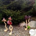 Ceramika i szkło las,leśny,ogród,muchomor