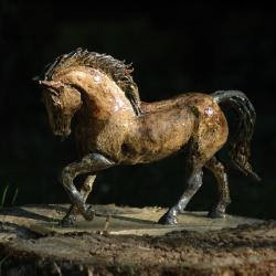 koń,z gliny,ceramiczny zwierzak,figurka konia, - Ceramika i szkło - Wyposażenie wnętrz