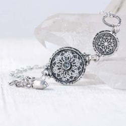 Srebrna bransoletka z topazem - Bransoletki - Biżuteria