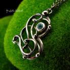 Naszyjniki Nehesi,naszyjnik,srebrny,srebra,topazem,wire