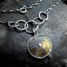 Naszyjniki naszyjnik z surowym bursztynem,srebrny