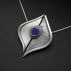 kobiecy naszyjnik,biżuteria srebrna,opal,fiann - Naszyjniki - Biżuteria