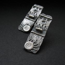 kolczyki,biżuteria artystyczna,srebrne kolczyki - Kolczyki - Biżuteria
