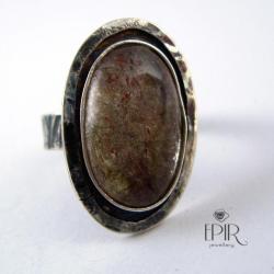 Pierścionek srebrny z kwarcem rutylowym - Pierścionki - Biżuteria