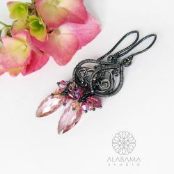 srebrne kolczyki z cyrkoniami,alabama studio - Kolczyki - Biżuteria