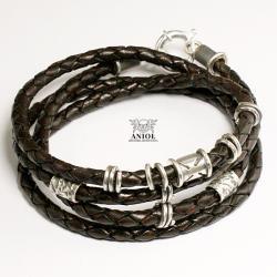 bransoleta meska,skórzana biżuteria - Dla mężczyzn - Biżuteria