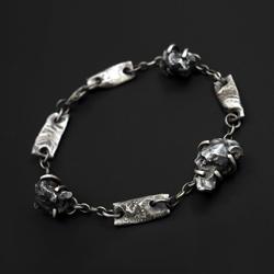 surowa,srebro,meteoryt,campo del cielo - Bransoletki - Biżuteria