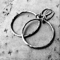 kolczyki koła,duże koła,okrągłe,srebrne,długie - Kolczyki - Biżuteria