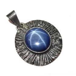 szafir,srebrny,blask,gwiazda,kosmos,granat,blue - Wisiory - Biżuteria