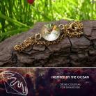 Bransoletki złocona bransoletka z jeżowcem Swarovski