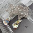 Kolczyki koronkowa gwiazdka z kryształem