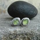 Kolczyki zielone kolczyki,wkretki z oliwinem