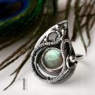 Pierścionki srebrny pierścionek,labradoryt,regulowany