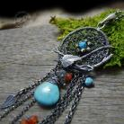 Dreamcatcher - Turquoise,Carnelian & Leaves