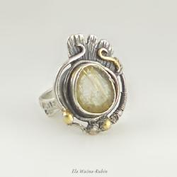 vintage,rutyl,ring,artjewelry,ela rubin - Pierścionki - Biżuteria