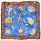 Inne z morskimi motywami muszlami niebieska jedwabna