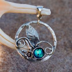 wisiorek,srebrny,kwiaty,romantyczny,artseko,prezen - Wisiory - Biżuteria