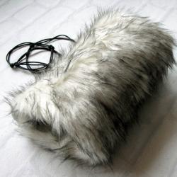 mufka,rękawiczki,ocieplacz,futerko,zima - Inne - Dodatki