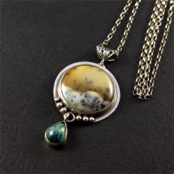 srebrny wisior z agatem - Wisiory - Biżuteria