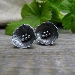 srebrne,maki,sztyfty,minimalistyczne, - Kolczyki - Biżuteria