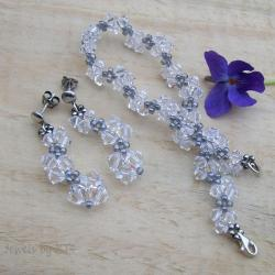 lekki,delikatny,kryształy,Swarovski,Jewels by KT - Komplety - Biżuteria