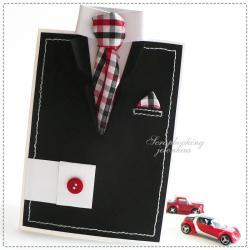 garnitur,dla niego,krawat,marynarka,koszula - Kartki okolicznościowe - Akcesoria