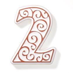 numer domu,cyfra,dekoracja domu,numer mieszkania - Ceramika i szkło - Wyposażenie wnętrz