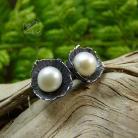 Kolczyki srebrne,perłowe,romantyczne,sztyfty