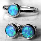 Komplety Komplet,kolczyki,pierścionek,opale,złoto
