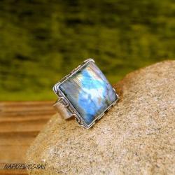 pierścionek z labradorytem - Pierścionki - Biżuteria