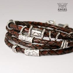 bransoleta męska,biżuteria skórzana - Dla mężczyzn - Biżuteria
