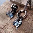 Komplety piórko,srebrny,delikatny,kobiecy,romantyczny