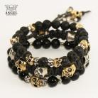 Dla mężczyzn komplet skórzanych bransolet,biżuteria męska