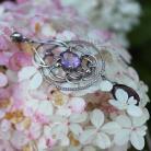 Wisiory romantyczny wisiorek,ametysty,srebro