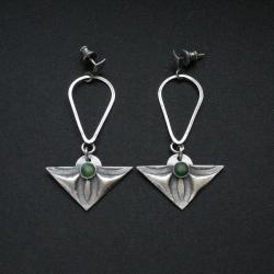 kolczyki,biżuteria artystyczna,srebrna biżuteria - Kolczyki - Biżuteria