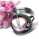 Pierścionki efektowny pierścień z perłą