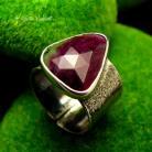 Pierścionki Nehesi,pierścień,srebrny,elfy,delikatny,rubinem