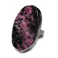 rubin,blask,szlachetny,retro,srebrny,kryształy - Pierścionki - Biżuteria