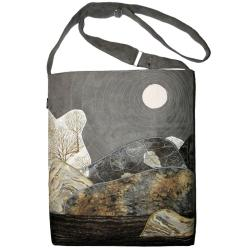 krajobraz,pejzaż,torba na jesień,xl,a4,góry - Na ramię - Torebki