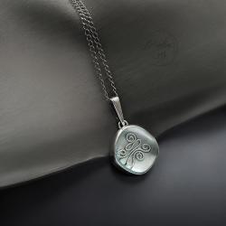srebrny,wisior,z kryształem andara - Wisiory - Biżuteria