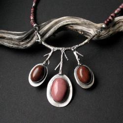 biżuteria artystyczna,srebro,naszyjnik,fiann - Naszyjniki - Biżuteria