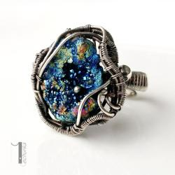pierścionek srebrny,pierścionek z pirytem - Pierścionki - Biżuteria