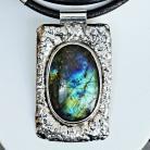 Naszyjniki srebro,wisiory,labradoryt,biżuteria