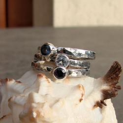 oryginalny,komplet,delikatny, - Pierścionki - Biżuteria