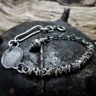 Bransoletki srebrna surowa bransoletka