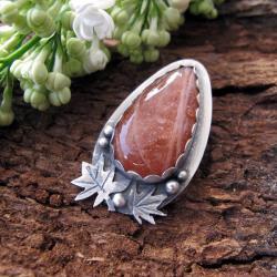 Oryginalny wisior z kamieniem słonecznym,srebro - Wisiory - Biżuteria