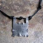 Dla mężczyzn Naszyjnik krótki,srebro 925,skórzane rzemienie
