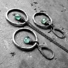 Komplety srebrny,nowoczesny,modny,prezent,zielony