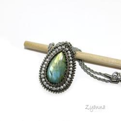 wisior,labradoryt,elegancki - Wisiory - Biżuteria
