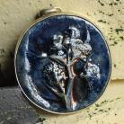 Wisiory wisior,ceramika,raku,granat,drzewo,srebro